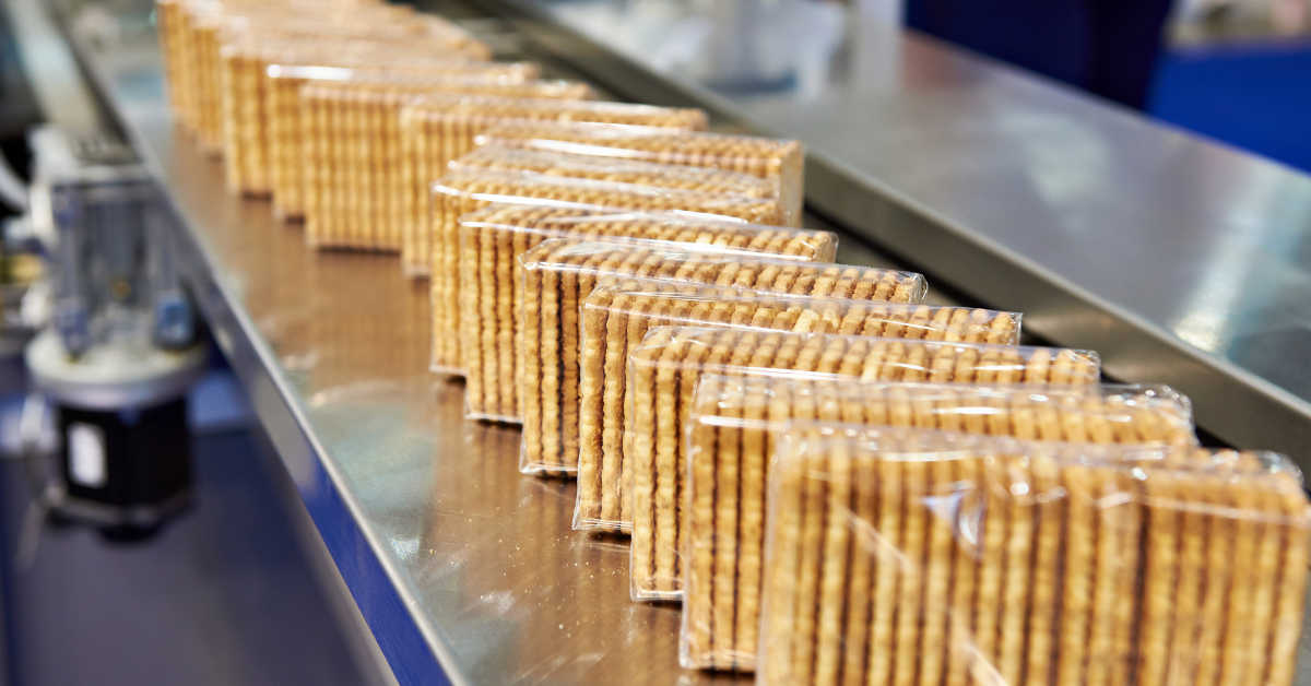 row of packaged crackers
