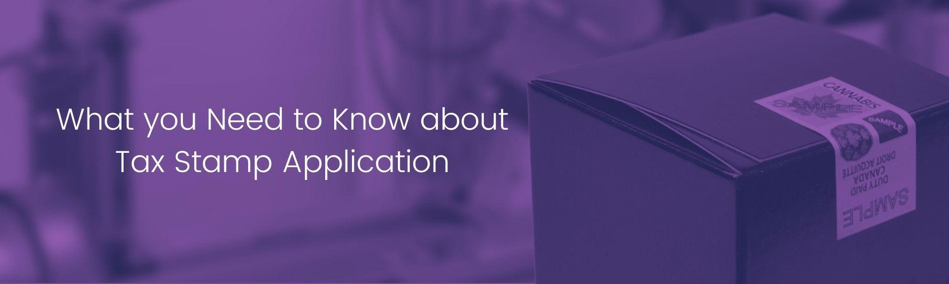 Tax Stamp Application Blog